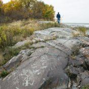 Petroglyphs, Spirit Island, Nett Lake Courtesy of Vance Gellert